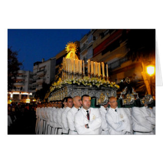 Carrying the Holy Mother Mary, Palm Sunday Greeting Card