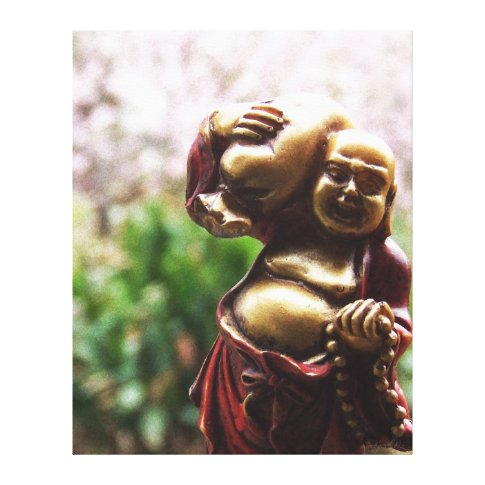 Carrying the Load Buddha Canvas