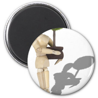 CarryingPottedTree062210Shadow 2 Inch Round Magnet