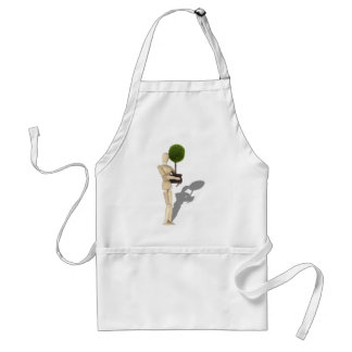 CarryingPottedTree062210Shadow Adult Apron
