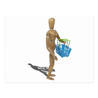CarryingShoppingBasket101311 Postcard