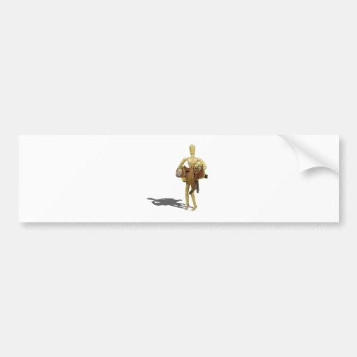 CarryingWesternSaddle110511 Bumper Stickers