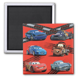 Cars 2 Inch Square Magnet