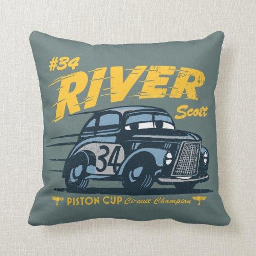 Cars 3 | #34 River Scott Throw Pillow