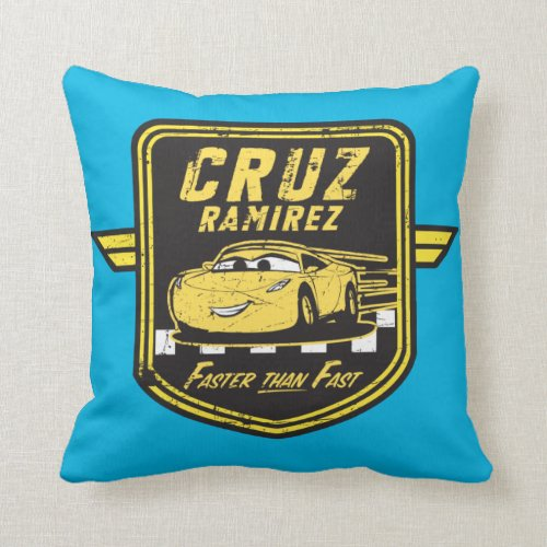 Cars 3 | Cruz Ramirez - Faster than Fast Throw Pillow