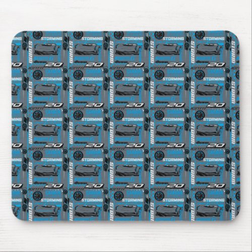 Cars 3 | Jackson Storm - Storming Through Pattern Mouse Pad