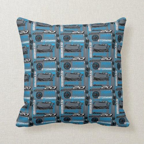 Cars 3 | Jackson Storm - Storming Through Pattern Throw Pillow