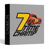 Cars 3 | Lightning McQueen - 7 Time Champ Binder
