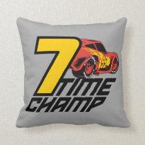 Cars 3 | Lightning McQueen - 7 Time Champ Throw Pillow