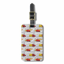 Cars 3 | Lightning McQueen 95 Pattern Luggage Tag