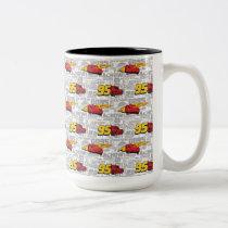 Cars 3 | Lightning McQueen 95 Pattern Two-Tone Coffee Mug