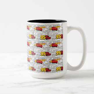 Cars 3 | Lightning McQueen 95 Pattern Two-Tone Coffee Mug