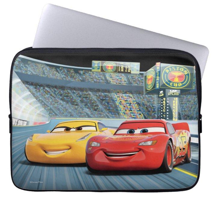 Cars 3 Lightning Mcqueen Cruz Ramirez Laptop Sleeve Zazzle