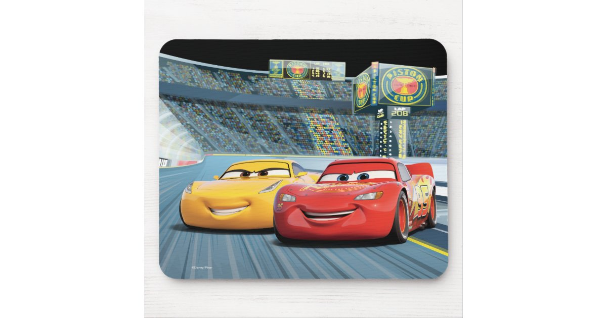 Cars 3 Lightning Mcqueen Cruz Ramirez Mouse Pad Zazzle Com
