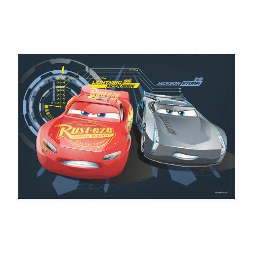 Cars 3 | Lightning McQueen & Jackson Storm Canvas Print