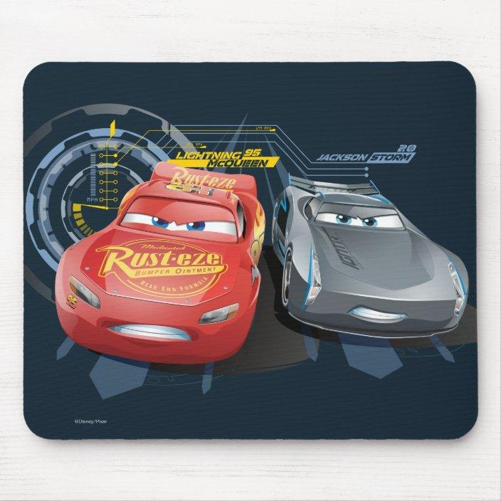 Cars 3 Lightning Mcqueen Jackson Storm Mouse Pad Zazzle Com