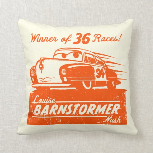 Cars 3 | Louise Barnstormer Nash - 36 Races Throw Pillow