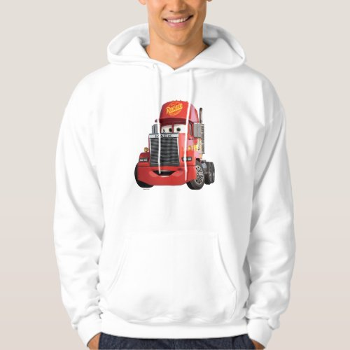 Cars 3 | Mack Hoodie.Style: Men's Basic Hooded Sweatshirt Enjoy the comfort of this warm and toasty pullover hoodie. You're going to love it. We've made it from a 10oz. cotton-poly blend with a 100% cotton face. It has set-in sleeves and double needle-stitched armholes and bottom band for durability. Customize to make it your own!