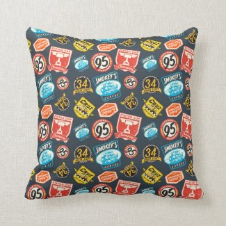 Cars 3 | Piston Cup Champion Pattern Throw Pillow.Accent your home with custom pillows from Zazzle and make yourself the envy of the neighborhood. Made from 100% grade A cotton, these pillows are the perfect complement to your couch!  Dimensions: 16