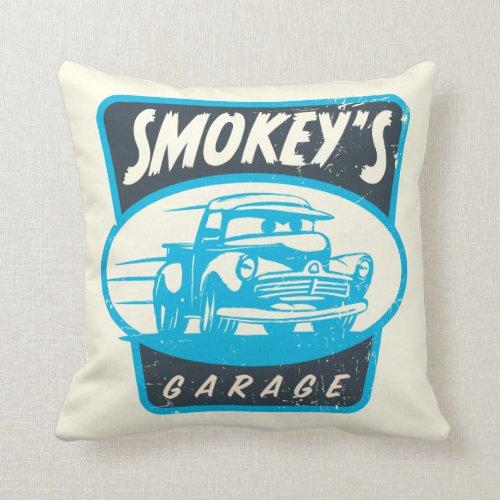 Cars 3 | Smokey's Garage Throw Pillow