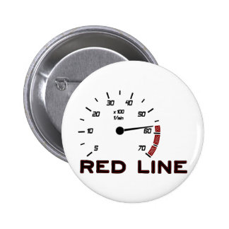 Cars and Driving - Red Line with Tachometer Buttons
