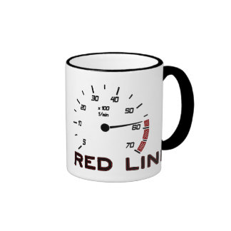 Cars and Driving - Red Line with Tachometer Mugs