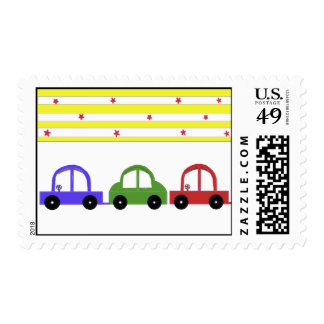 Cars and Stripes Postage Stamp