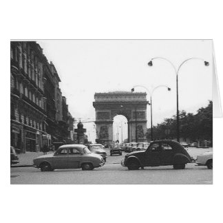 Cars & Arch Vintage Old Black & White Note Card