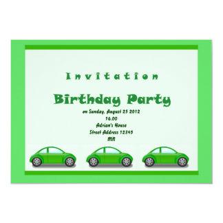 Cars Birthday Invitation
