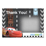 Cars Birthday Thank You Card at Zazzle