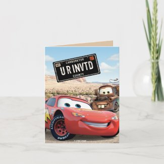 Cars Card Frame Disney zazzle_card