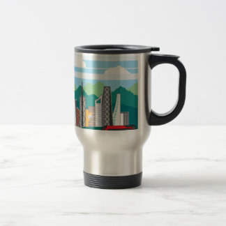 Cars city landscape travel mug