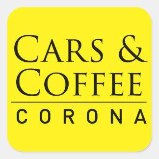 Cars & Coffee Corona Sticker