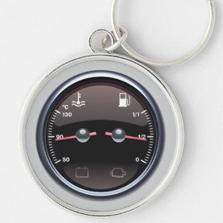 Cars Fuel Temperature Meter Keychain
