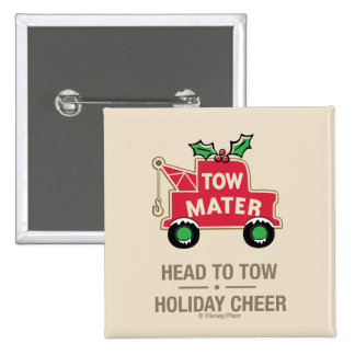 Cars   Head To Tow Holiday Cheer Button