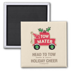 Square Magnet with Disney Christmas Ornaments design