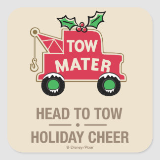 Cars | Head To Tow Holiday Cheer Square Sticker