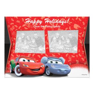 Cars Holiday Photo Card Invite