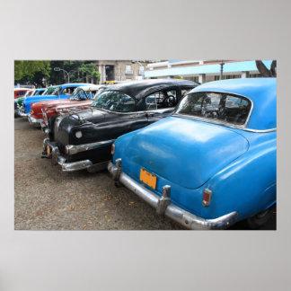 Cars in La Havana Poster