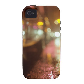 Cars in on urban street rainy night hasselblad med vibe iPhone 4 cases