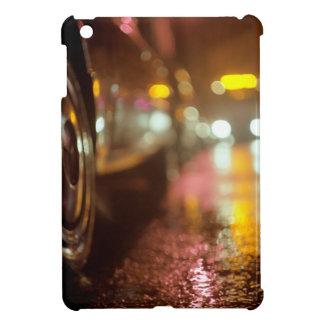 Cars in on urban street rainy night hasselblad med iPad mini cover