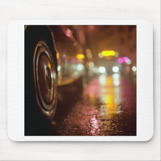 Cars in on urban street rainy night hasselblad med mouse pad