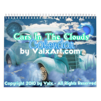 Cars in the clouds calendar by valxart.com