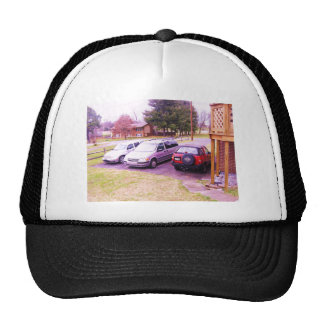 cars.JPG family cars in driveway Trucker Hat
