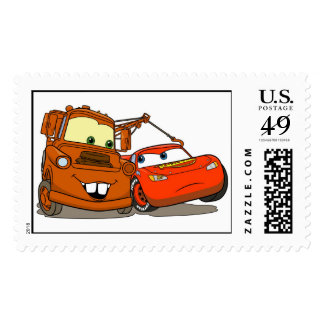 Cars Lightning McQueen and Mater Disney Postage
