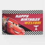Cars Lightning Mcqueen | Birthday Banner at Zazzle