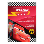 Cars Lightning McQueen   Birthday Card<br><div class='desc'>Invite all your friends to your Cars Birthday Party with these cute Lightning McQueen invites. Personalize by adding all your party details.</div>