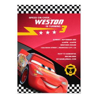 Cars Lightning Mcqueen | Birthday Card at Zazzle