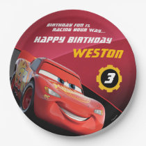 Cars Lightning McQueen | Birthday Paper Plate