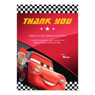 Cars Lightning McQueen | Birthday Thank You Card